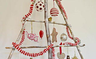 make your own stylish branch christmas tree