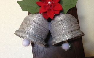 diy christmas silver bells made from recyclables