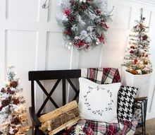 farmhouse christmas home tour, home decor
