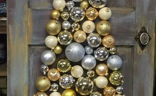 great christmas craft using old vintage wood door, crafts, doors