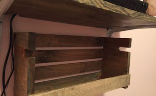 rustic shelf from wooden crate, shelving ideas
