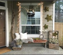 diy christmas moss stars for the front porch