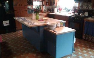 painted kitchen island, kitchen design