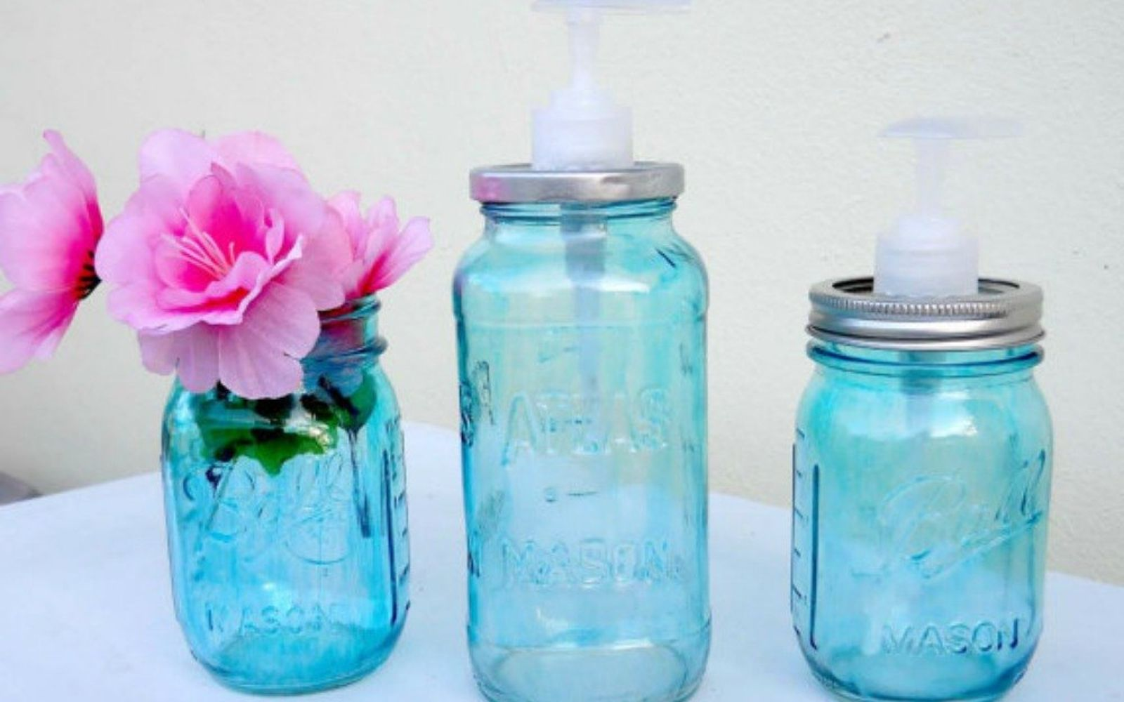 s 14 exciting mason jar ideas you just have to try, mason jars, 5 The stunning soap dispenser