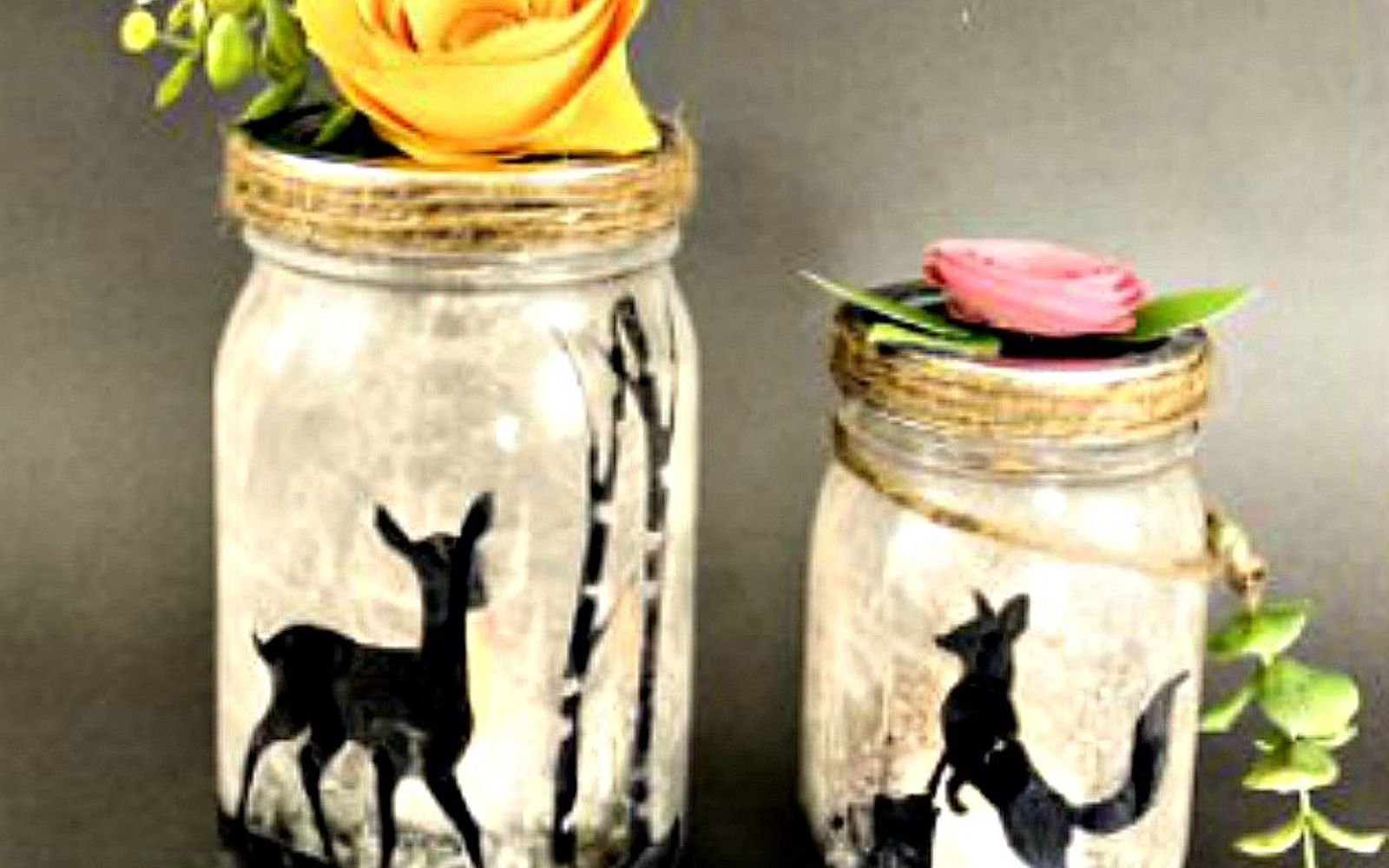 s 14 exciting mason jar ideas you just have to try, mason jars, 1 This woodland lamp
