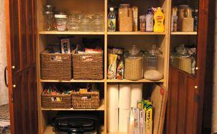 turning a wardrobe into a pantry , closet