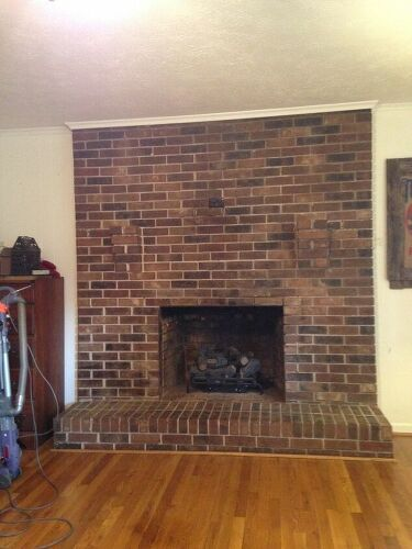 How To Remove 3 Brick Shelves Above The Fireplace Hometalk