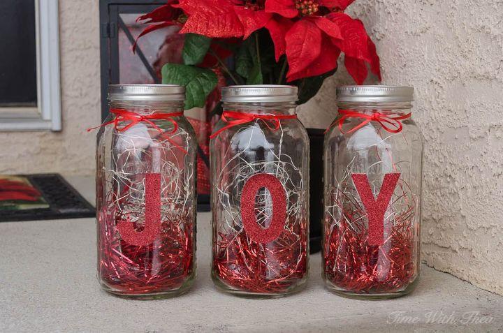 how to make mason jar christmas lights