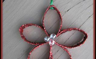 christmas flower ornament recycling craft christmas decorations, christmas decorations, crafts, gardening, seasonal holiday decor