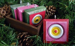 wood rosettes become vintage style christmas ornaments, christmas decorations, seasonal holiday decor