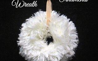 furry wreath ornaments, christmas decorations, crafts, seasonal holiday decor, wreaths