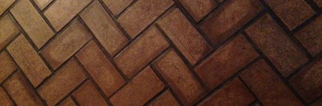 q pavers inside a home, concrete masonry, home decor