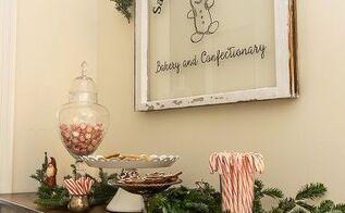 diy painted window santa s sweet shoppe