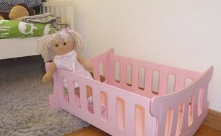 diy toy cradle, painted furniture