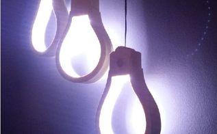 wooden light bulb shaped lamp, lighting