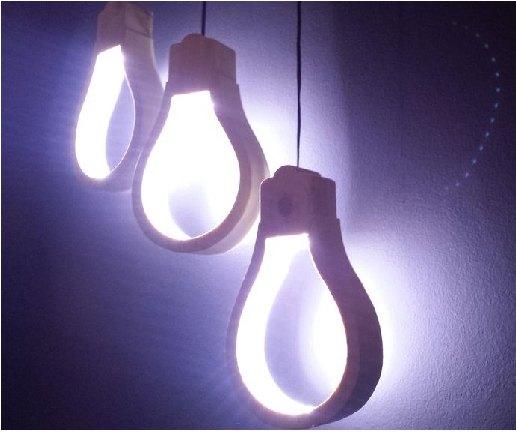wooden light bulb shaped lamp lighting. Black Bedroom Furniture Sets. Home Design Ideas