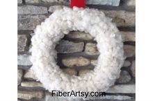 diy wool christmas wreath, crafts, wreaths