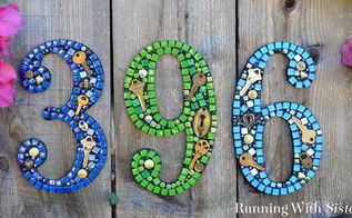 steampunk mosaic house numbers