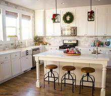 farmhouse christmas kitchen, kitchen design