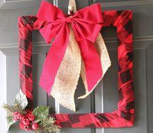 easy diy buffalo check wreath, crafts, wreaths