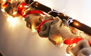 diy holiday burlap garland, crafts