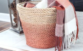 dollar store laundry basket turned chic metallic rope basket, crafts