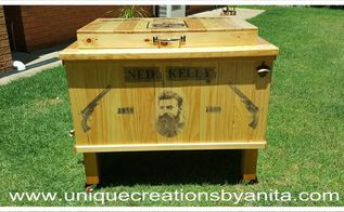 ned kelly themed patio cooler, Outdoor Cooler
