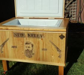 Patio Ice Chest On Wheels Ned Kelly Themed Patio Cooler Hometalk