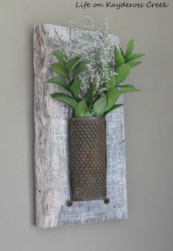Add Some Rustic Plant Wall Decor