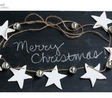 easy silver white rustic christmas garland