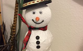 up cyled almost free snowman, Here is my version of Frosty