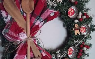 thrifty christmas wreath, crafts, wreaths