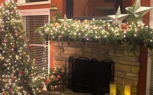 diy mantel christmas decoration ideas, fireplaces mantels