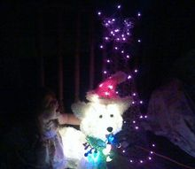 lighted chicken wire tree