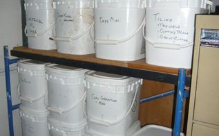 garage storage bins, composting, garages, go green, storage ideas, Stack able with lids
