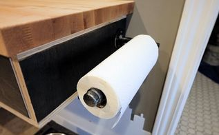 diy industrial pipe paper towel holder, plumbing