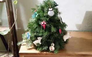 make a faux diy christmas tree with real branches, The hardest part is to decide where it goes