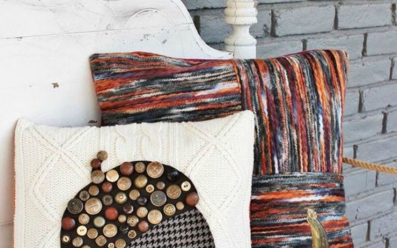 s 15 quick and easy gift ideas using buttons, Use them to glam up your throw pillow