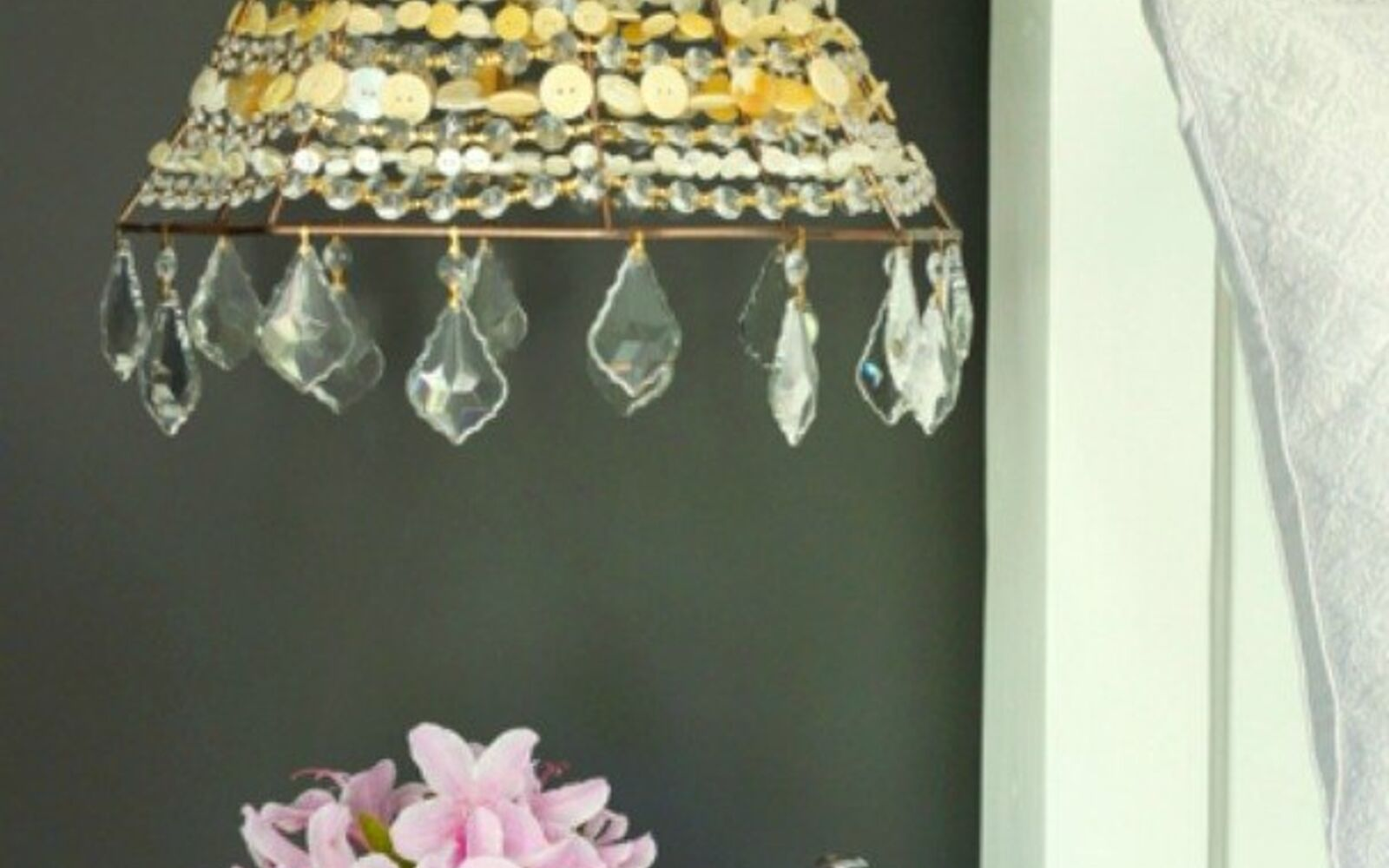 s 15 quick and easy gift ideas using buttons, String them into a beautiful lamp shade