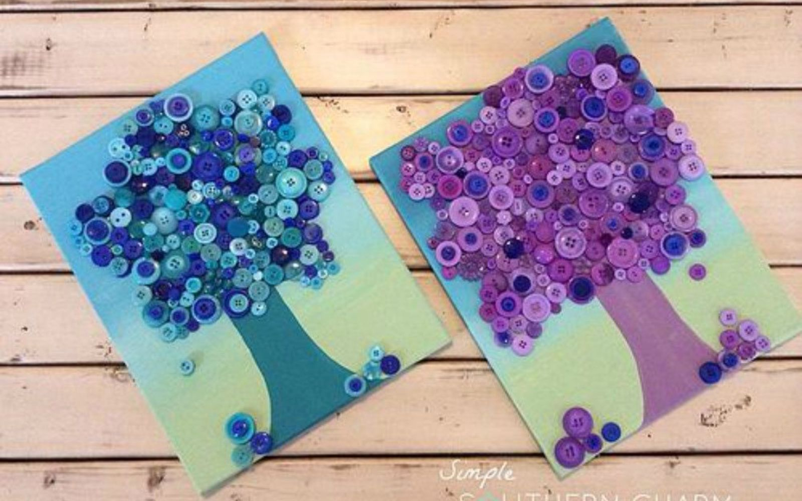 s 15 quick and easy gift ideas using buttons, Stick them on canvas to create pretty art