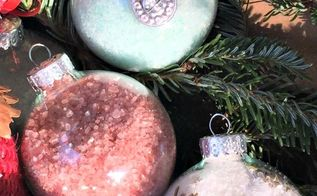 christmas ornament bath salts, bathroom ideas, christmas decorations, seasonal holiday decor
