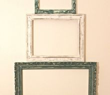 re purposed thrift shop picture frame christmas tree