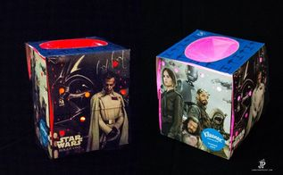 rogue one a star wars story diy night light with kleenex brand box