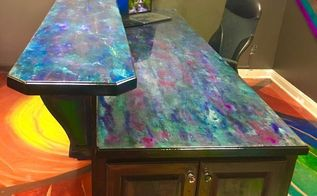laminate counter tops turned to polished stone, concrete masonry, countertops