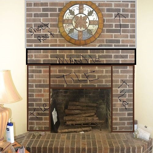 How To Refinish A Brick Fire Place.