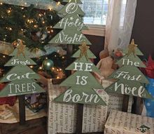 diy christmas rustic trees