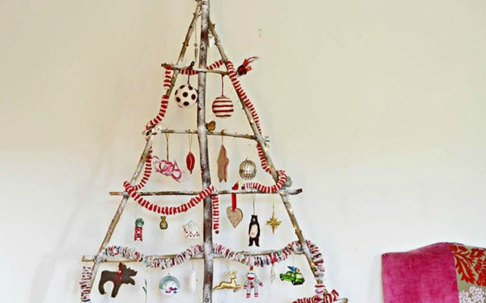 s forget your traditional christmas tree these are even better, Gather some branches from outside