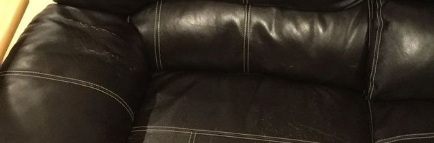q suggestions for couch repair please , painted furniture