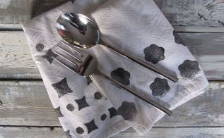 potato print tea towels, bathroom ideas, gardening