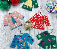 diy ugly sweater ornaments, christmas decorations, seasonal holiday decor, DIY Ugly Sweater Ornaments